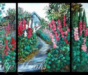Hollyhocks of Bainbridge