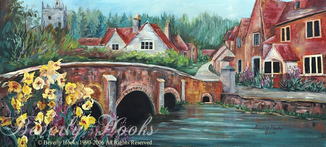 Cotswolds, England Painting by Beverly Hooks