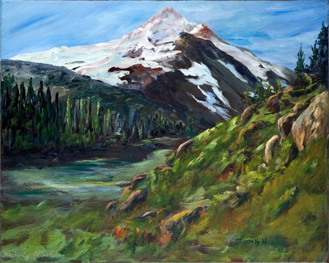 Olympic Grandeur Painting by Beverly Hooks