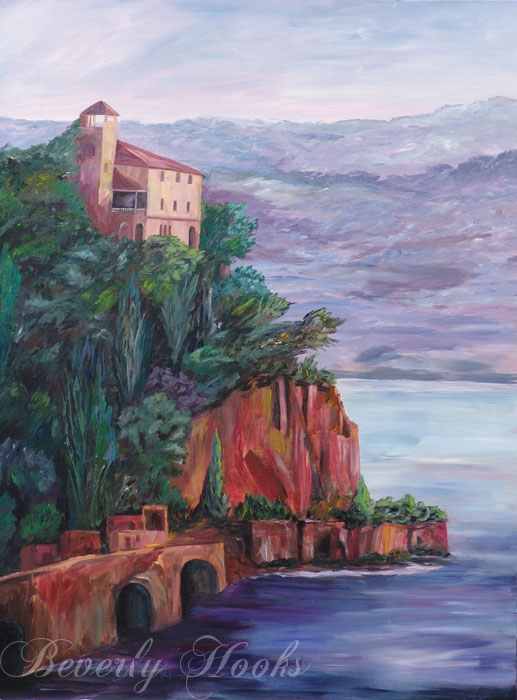 Promontory Point in Italy by Beverly Hooks