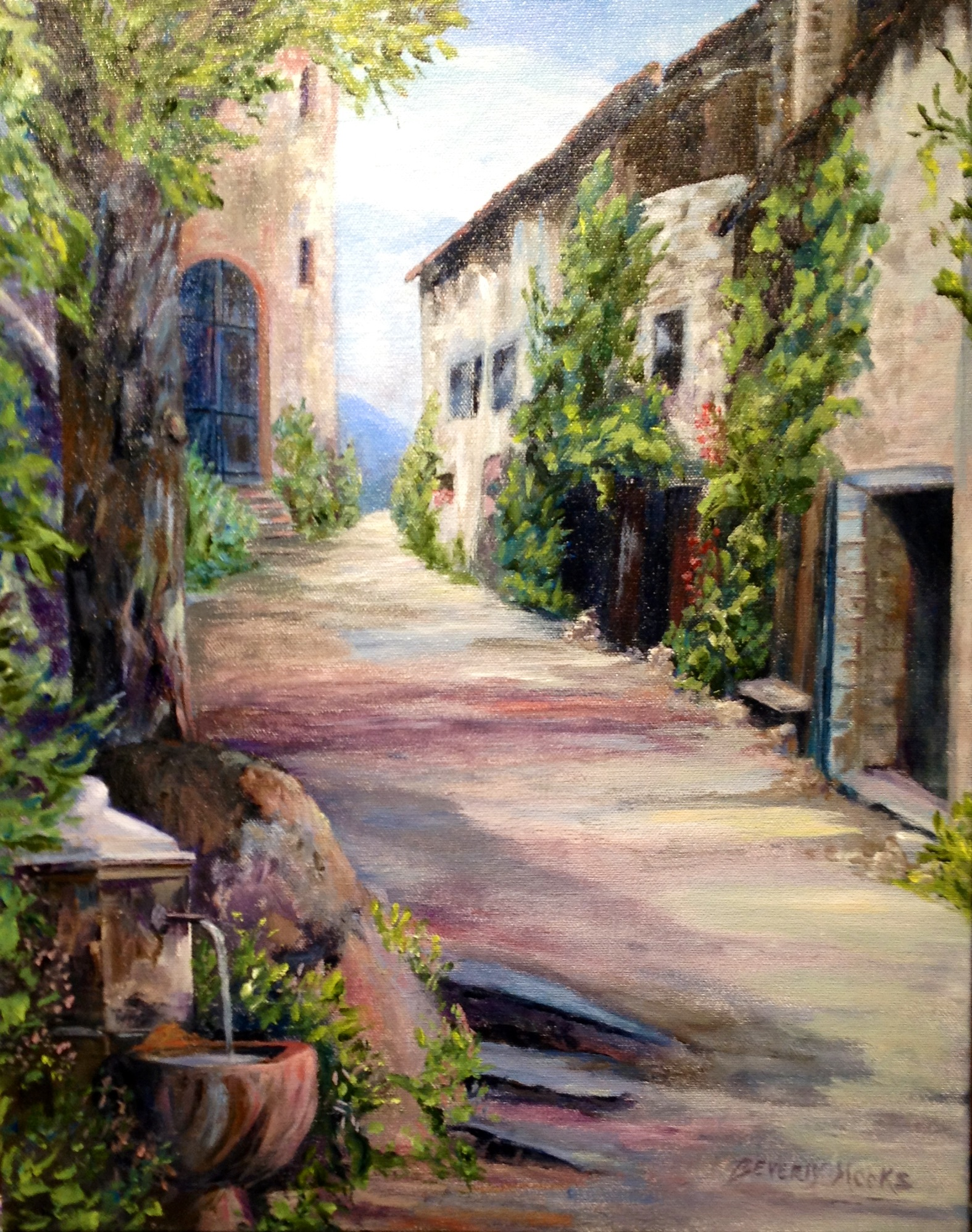 Painting of Provence, France by Beverly Hooks