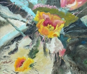 Painting of Desert Flower in Palm Springs, CA