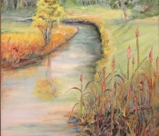 In the Wetlands Painting in Belfair, WA by Beverly Hooks